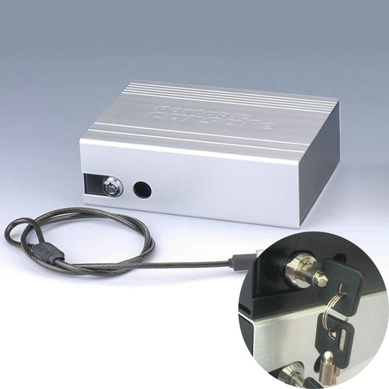 Portable Car Safe Box Key Lock Safes Jewelry Cash Pistol Storage Boxes Aluminum alloy Security Strongbox With Wire Rope Fixed el izi okumali silah kasası