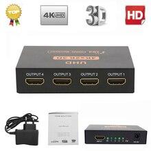Ultra HD 4K HDMI Splitter 1X4 Cổng 3D UHD 1080p Video 4K * 2K BỘ Chuyển Mạch HDMI Switcher HDMI 1 Đầu Vào 4 Đầu Ra HUB Repeater Bộ Khuếch Đại