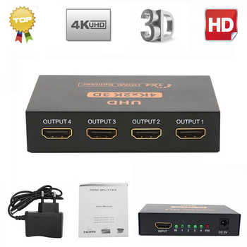 Ultra HD 4K HDMI Splitter 1X4 Port 3D UHD 1080p 4K*2K Video HDMI Switch Switcher HDMI 1 Input 4 Output HUB Repeater Amplifier - Category 🛒 All Category