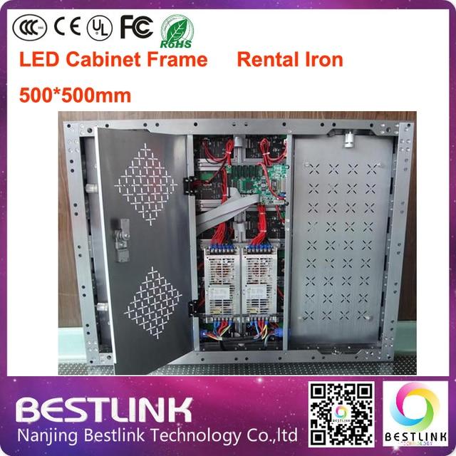 Открытый полем аренда экрана с аренду 500 * 500 мм из светодиодов прокат железа шкаф рамка rgb с из светодиодов модуль для из светодиодов этап