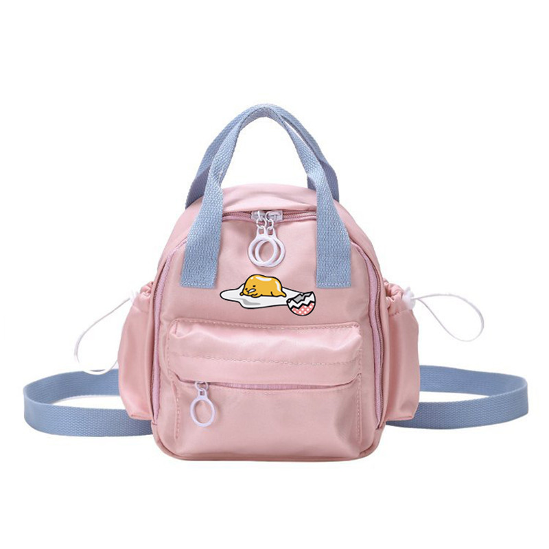 Cute Girl Gudetama Anime Small Backpack Student Funny Candy Color Casual Waterproof Shoulder Bag Travel Purse Daypack