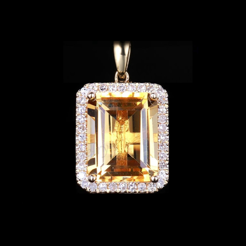 6x8 MM Natural Yellow Color Citrine Oval Cut Pendent Citrine Pendent Gift For Her 925 Sterling Silver Pendent