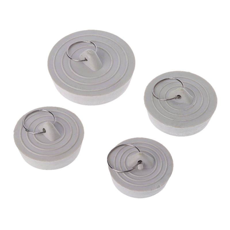 Rubber Sink Drain Stopper Plug With Hanging Ring For Bathtub Kitchen Bathroom(China)