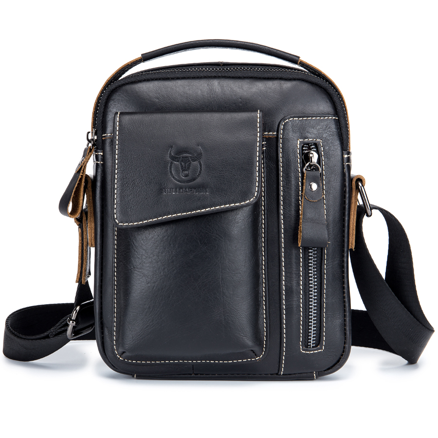 Brand New Genuine Leather Small Casual Handbag Handle Pack Men's Cross Body Shoulder Bag Male Cowhide Messenger Bag For Travel brand genuine leather casual small cross body shoulder bag men s messenger bags male cowhide handle pack handbaf for ipad mini