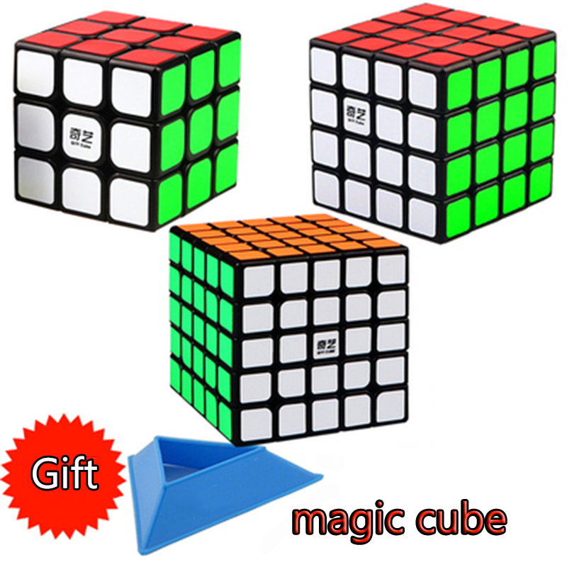 QIYI Professional Cube 4x4 5x5 Neo Cubo Puzzle Speed Mirror Magic Cube Metal Learning Education Children Grownups Cubic Ruby Toy