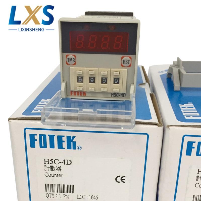 Тайвань Fotek 90 250VAC 4 цифры предустановленный счетчик/цифровой счетчик/электронный счетчик H5C 4D