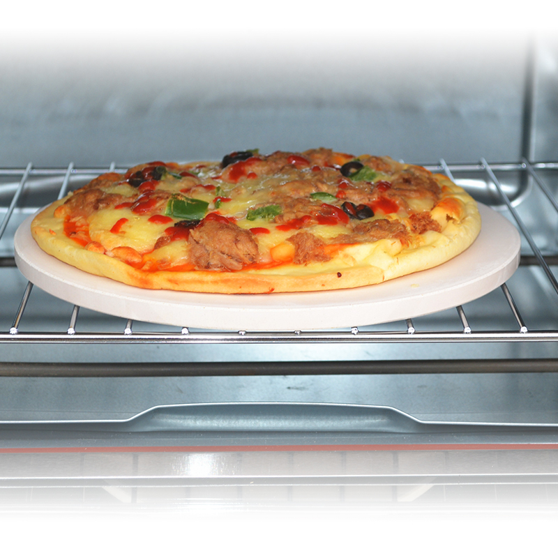 10 Kitchen Pizza Stone Baking Oven Bread Tray For Indoor Oven Outdoor BBQ Grill
