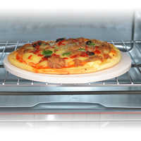 "10"" Kitchen Pizza Stone Baking Oven Bread Tray For Indoor Oven Outdoor BBQ Grill"