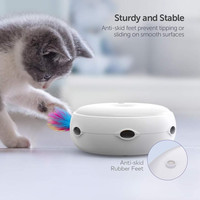 Electric Cat Toy Smart Teasing Cat Stick Crazy Game Spinning Turntable Cat Catching Mouse Donut Automatic Turntable Cat Toy 18.8