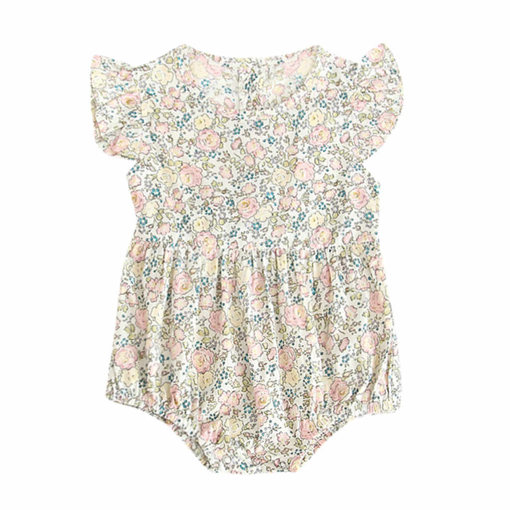 2019 Fashion Newborn baby rompers jumpsuit for Baby Short Sleeve Flowers Romper Outfits Clothes kids clothes