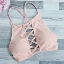 Women Bandage Bikini Set Halter Neck Criss Cross