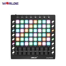 Портативный USB MIDI контроллер для барабанных колодок с подсветкой 48 RGB 8 ручек 16 кнопок 8 ползунков с usb-кабелем