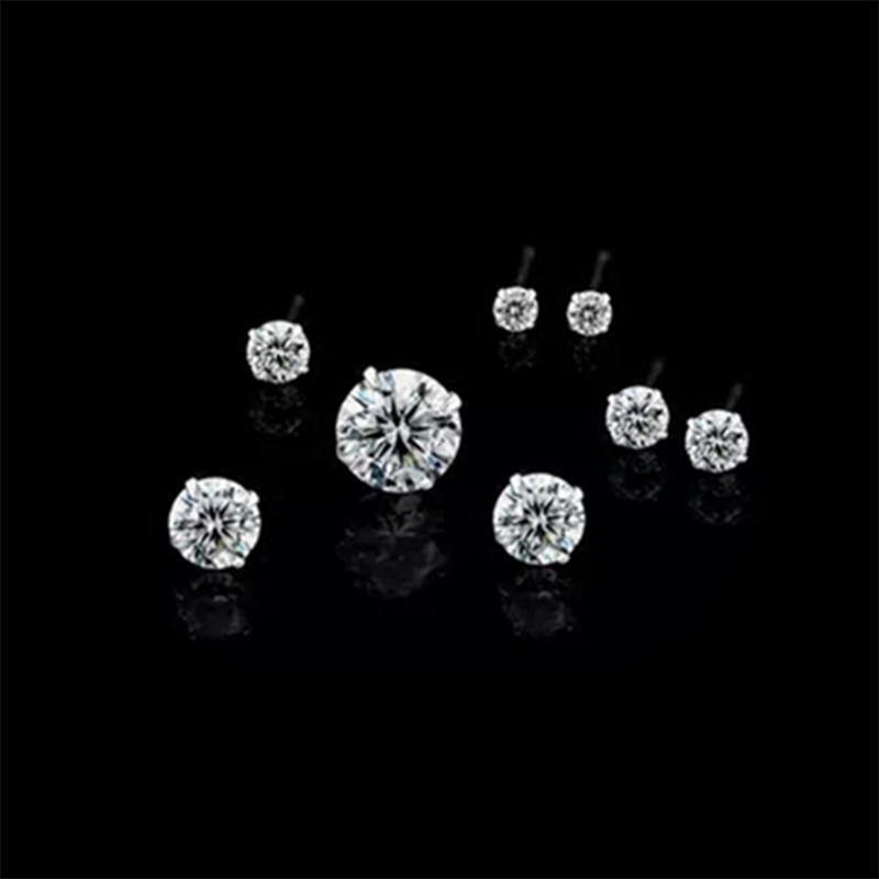 Buy AAA+ Simple New Design Carat ct Rhinestone Crystal Sterling Silver Stud Earrings Piercing Ear Studs for Women Wedding Party Gift for $5.66 in AliExpress store
