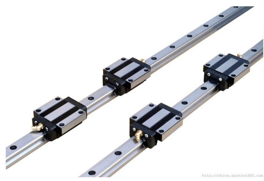 China Made 2pcs HGR25 L1200mm rail+ 4pcs HGW25CA flange block bearingChina Made 2pcs HGR25 L1200mm rail+ 4pcs HGW25CA flange block bearing