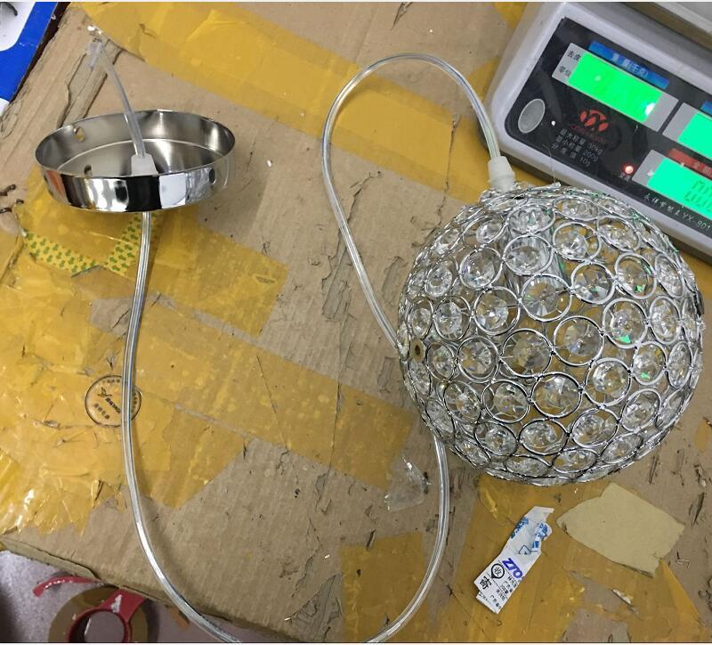 Современная круглая железная люстра Диаметр 15 см E27 светодиодные лампы простые хрустальные люстры светодиодная люстра освещение