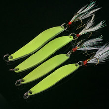 10pcs Luminous Fishing Lure Metal Spoon Bass Fishing / Spinner Winter Fishing Lure Sea Fishing Tackle 5g/7g/10g/13g