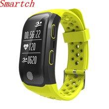 Smartch 2017 новые S908 GPS Smart Band Bluetooth 4.2 сердечного ритма IP68 Водонепроницаемый Sleep Monitor Шагомер умный Браслет для andr