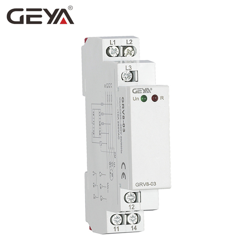 US $9 16 18% OFF|GEYA Phase Sequence Phase Failure Voltage Monitoring Relay  Din Rail Type 45Hz 65Hz True RMS Measurement Control-in Relays from Home