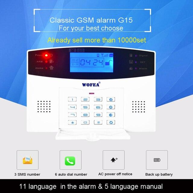 106 зоны ЖК-дисплей клавиатура проводной и беспроводной GSM сигнализация дома набор безопасности голос руководство двухсторонний Интерком Бе...