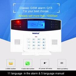 106 zone LCD Клавиатура проводная и Беспроводная GSM сигнализация домашняя система безопасности набор голосовое руководство двухсторонняя Интер...