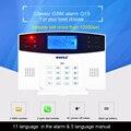 106 zone LCD tastatur wired & wireless GSM alarm system home security set Voice Guide zwei weg intercom kostenloser versand-in Alarm System Kits aus Sicherheit und Schutz bei