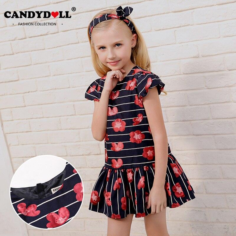 CANDYDOLL Autumn new children's dress High end jacquard girl dress European and American wind boy dress cute sweet