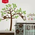 Персонализированные настенные стикеры MonkeyTree  наклейки на стену для детской комнаты  детские обои для домашнего декора
