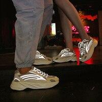 Luminous men and women sports shoes unisex tide shoes men's casual breathable men's shoes walking shoes large size 35 47