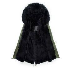New style winter real fox fur male coat men wear long style beading black lined hooded jacket