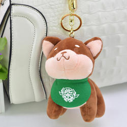 Kawaii Мультфильм Креативные животные Щенок меховой шарик-подвеска пакет украшение пара ключ сумка плюшевая игрушка кукла школьный мешок