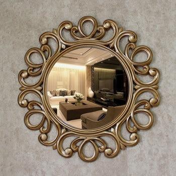 Around flowers 63cm Retro golden decorative mirror 1