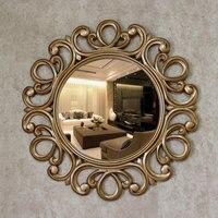 Around flowersDiameter 63cm Retro golden decorative mirrors American luxury style home wall decor bathroom TV background mirrors