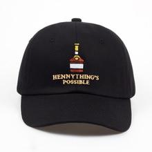 2018 nuovo Henny bottiglia di Vino ricamo Cappello Papà uomini donne  Berretto da baseball regolabile Hip-Hop cappelli di snapbac. c75bdcfe50ad