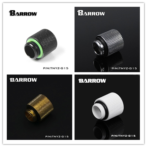 """Barrow G1/4"""" male to female 15mm extension water cooling computer fittings Silver Gold Black White cooler adapter TNYZ-G15"""