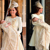 Baby Dresses Famous Prince Long Sleeves Christening Dresses with Beautiful Tiered Champagne Lace Unique Baby Christening Gowns