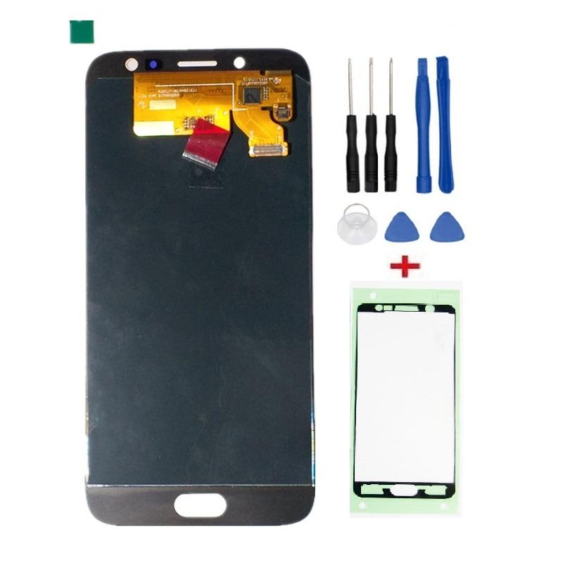 100% testé Écran LCD Full + Écran Tactile Pour Samsung Galaxy J7 Pro 2017 J730 J730F LCD Digitizer Assemblée + outils + Bandes