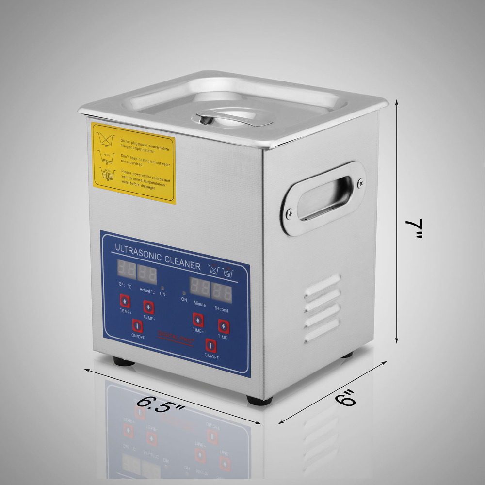 Stainless Steel 2L Industry Heated Ultrasonic Cleaner Jewelry Cleaning Digital Timer and Temper
