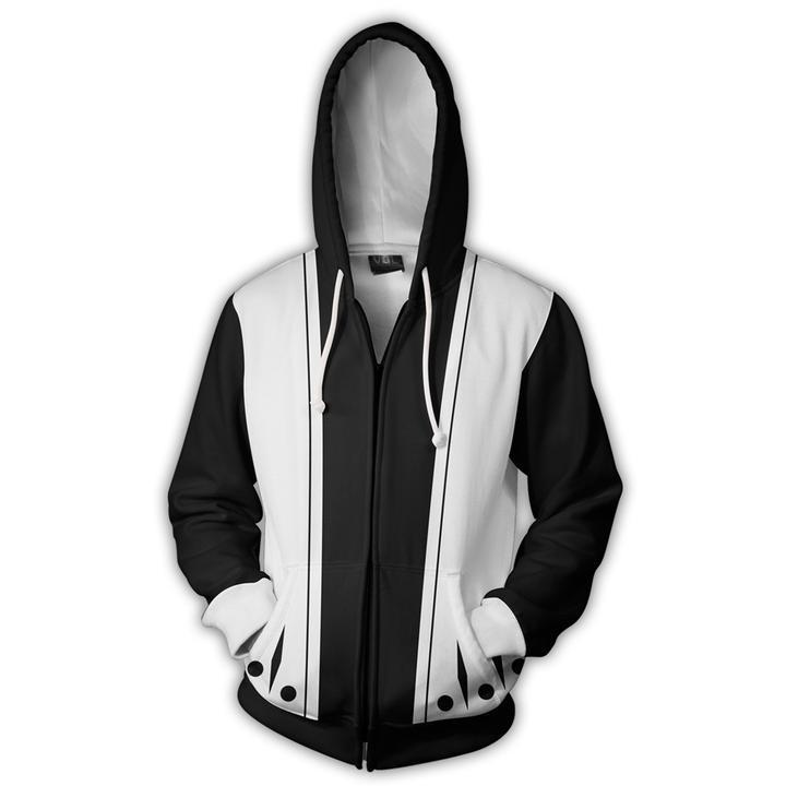 2018 Autumn Winter 3D Print Death is a sword Men Sweatshirts Hoodies Fashion Cosplay Casual Zipper hooded Jacket clothing