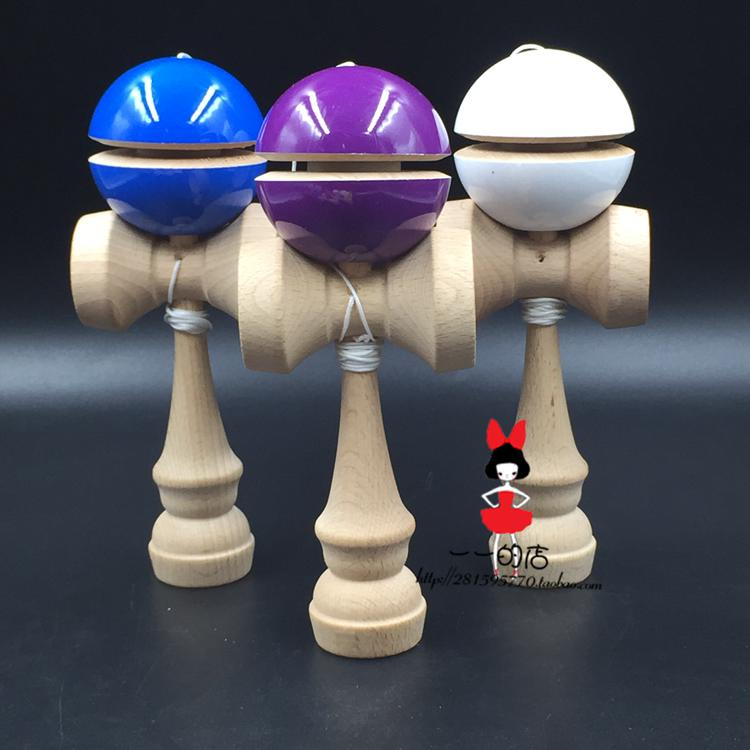 new TWB retail IP yoyo pu paint ball balanced professional skills jade puzzle sword exercise kendama