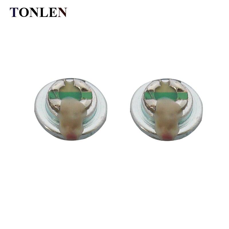 TONLEN 10 unids 10 mm en la unidad del altavoz del auricular del - Audio y video portátil