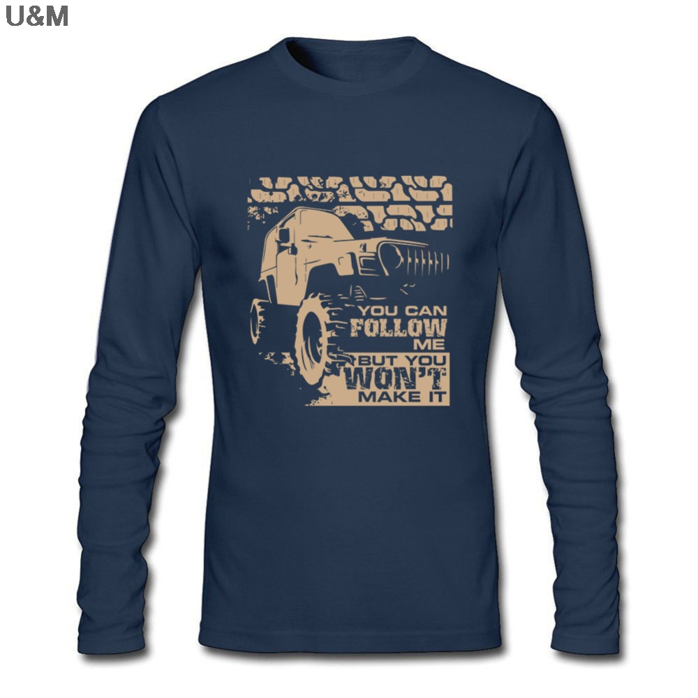 HU&GH Fitness Party T Shirt Men Shop Offroad Jeeps Shirts With Car For Off Road Long Sleeve Homme Clothes
