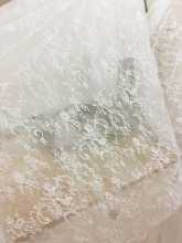 One yard clear sequin tulle lace fabric for wedding , bridal gowns, couture lace fabric bridal accessories цены