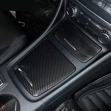 ABS Center Console Storage Box del Pannello di Copertura Trim 2 Pcs Per Mercedes Benz GLA X156 CLA C117 2013-18 UNA Classe W176 In Fibra di Carbonio di Colore
