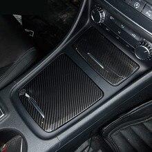ABS центральной консоли коробка для хранения Панель Крышка отделка 2 шт. для Mercedes Benz GLA X156 CLA C117 2013-18 класс W176 углеродного волокна Цвет