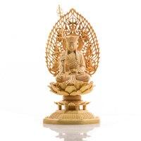 Buda carving Buddha statue Goddess Western budas wood boedha craft Feng shui bouddha buda s for home decor