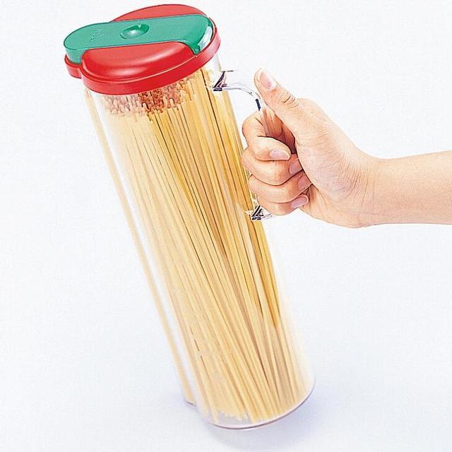 An Inomata Kitchenaid Tool Spaghetti Storage Container Pasta Dispenser Jar Canister Noodle Measure 1 Pc