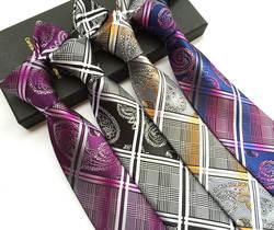 Новый полиэстер Материал Для Мужчин's Бизнес Повседневное галстук Мода Пейсли цветок галстук высокое качество Для мужчин костюм галстук