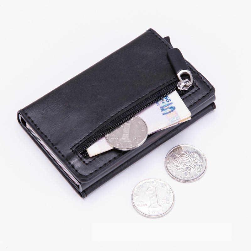 2019 Multifunction Cardholder กระเป๋าสตางค์ PU หนัง RFID ผู้ถือบัตรเครดิตอลูมิเนียมธุรกิจ ID Bank Card Protector กรณี