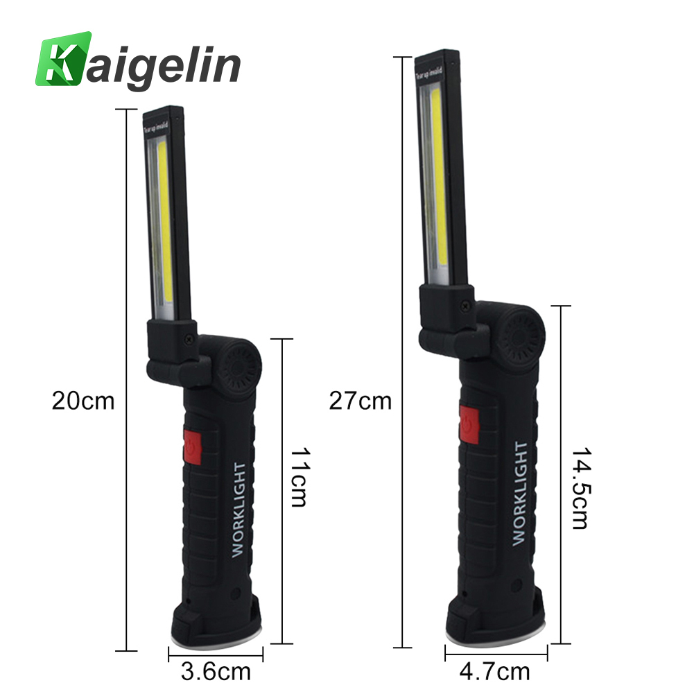 Kaigelin Foldable Work Light Flashlight USB Rechargeable Magnetic LED Portable Working Lamp Flashlight Torch Emergency Lights lumiparty mini portable flashlight plastic hand power emergency lights generation environment friendly outdoor torch lamp