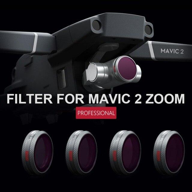 PGYTECH 4Pcs ND Camera Lens Filters Set for DJI MAVIC 2 ZOOM - ND8 ND16 ND32 ND64 Filter for DJI Flight UAV